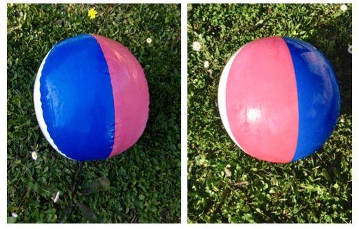 comparaison ballon ombre soleil