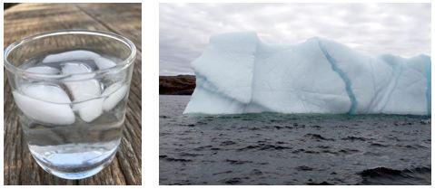 glaçons et iceberg
